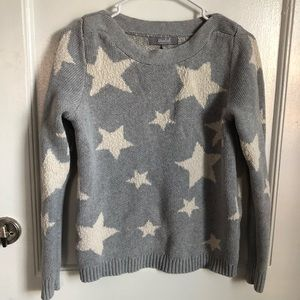 💛Blue/Grey sweater with off white colored stars